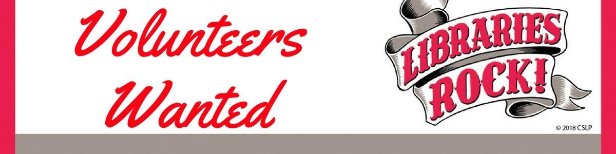 Volunteers Wanted!!!!