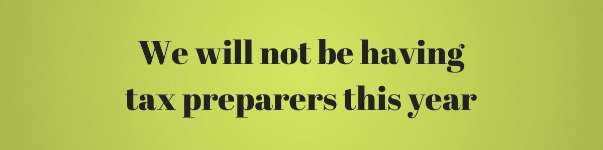 No Tax Preparers